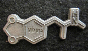 "The MDMA molecule which gave birth to the name ""Molly"""