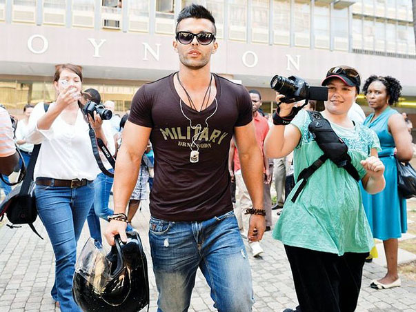 "Waterkloof's own ""Paris Hilton"", Christoff Becker walks free sporting a new body, a new hairstyle, and designer gear."