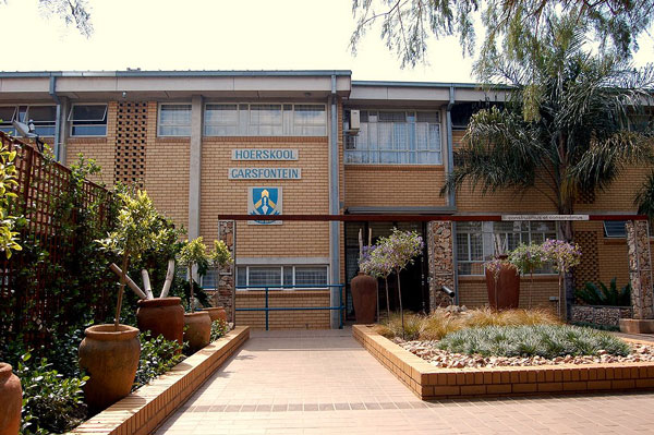 Hoerskool Garsfontein - a  popular secondary school in Pretoria East, South Africa