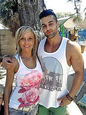 Christoff Becker, with his mother, Mariette