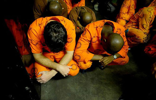 Prisoners in the notorious C-Max prison in Pretoria