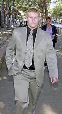 REINACH Tiedt (pictured) and Gert van Schalkwyk, two of the Waterkloof four convicted of murdering a homeless man in a Pretoria park, still do not believe that they committed murder. Both men admitted to assaulting a man, but believed that the man whose body was found by police in a park in Moreleta Park, Pretoria, in December 2001 was not their victim.