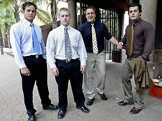 Du Preez, Christoff Becker, Gert van Schalkwyk and Reinach Tiedt were aged 16 at the time. Becker was a pupil at Hoërskool Garsfontein. His father, Dr Christo Becker, is the principal of Hoërskool Waterkloof, where the other three accused finished their matric.