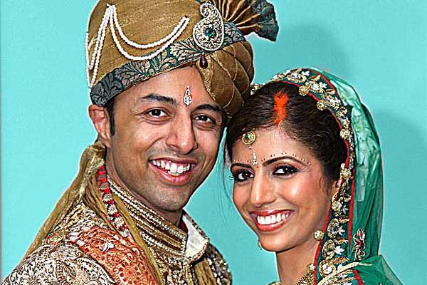 "Shrien Dewani with bride Anni on their wedding day. However, Dewani ""did not touch"" his beautiful new bride on their wedding night."