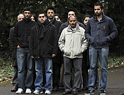 Shrien surrounded by his relatives, the Dewani family members.