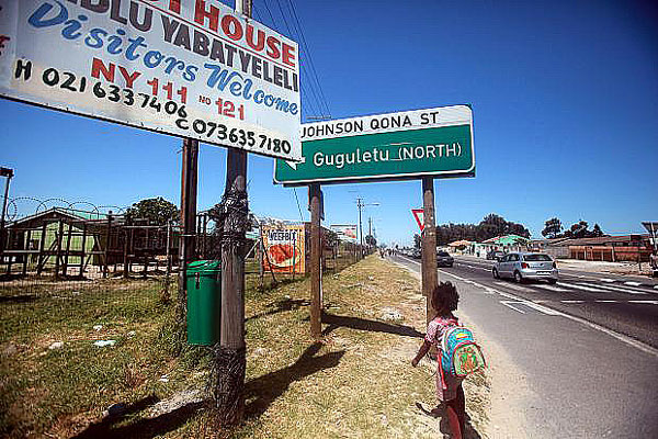 Gugulethu or Guguletu is a township 15 km from Cape Town, South Africa.  It's a colourful combination of vibrant life and a local example of the problems associated with poverty.