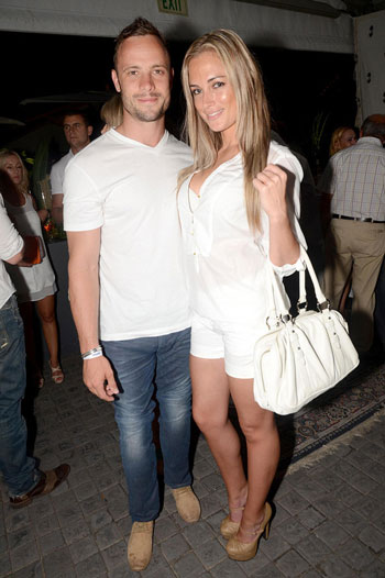 Oscar's ex is saying that he is basically a player and that his new FHM model babe, Reeva Steenkamp, used to stalk her.