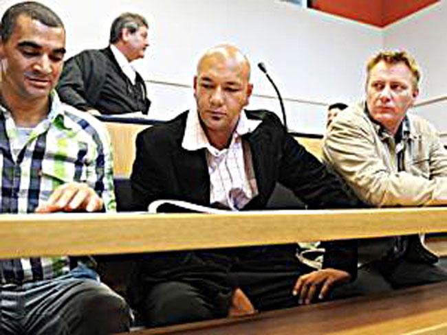 The three murder suspects in court.  Achmat Toffa, Fareez Allie and Johannes Coetzer