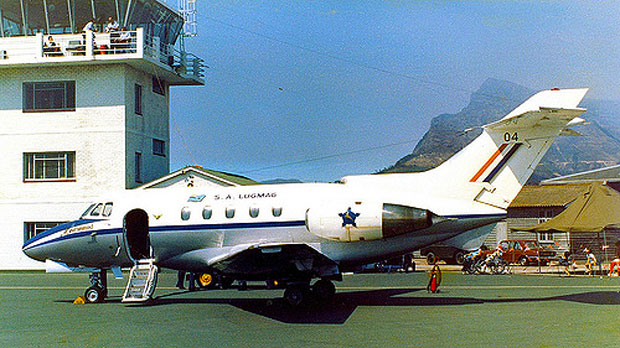 Hawker Siddeley Mercurius. Here we see number 04. .......Nr's 01 ,02 and 03 were lost in the crash on Devils Peak seen behind the tail.