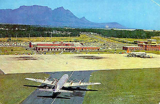 Ysterplaat Air Force base with Devils Peak in the background